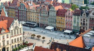 Stadtzentrum von Wroclaw