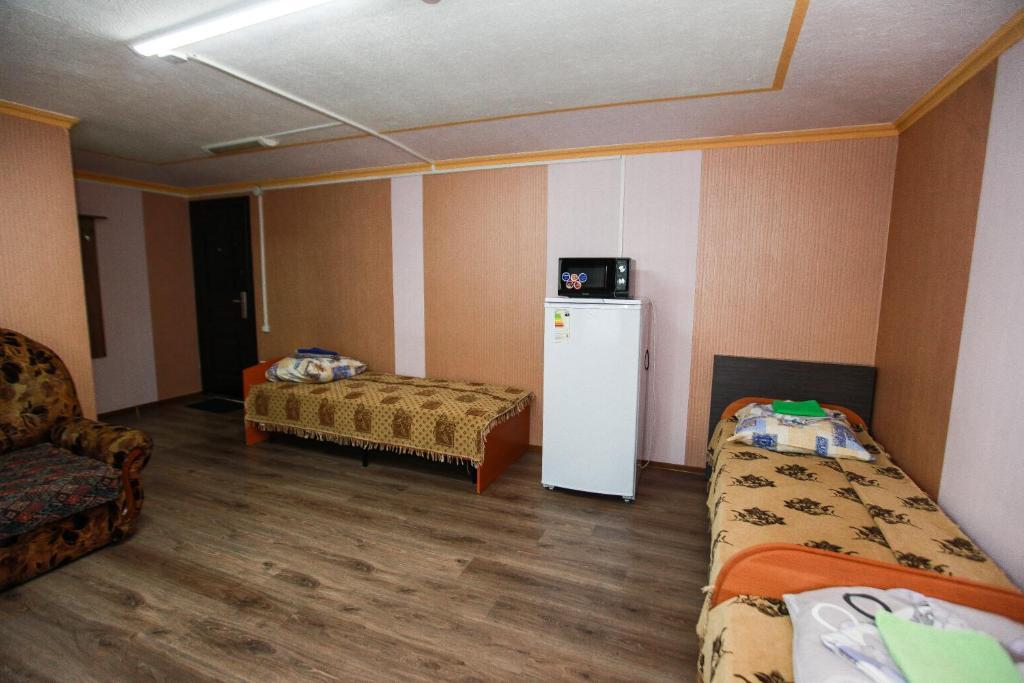 Номер (Кровать в общем четырехместном номере) гостиницы Турист